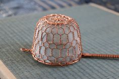 Buy this stunning hand threaded copper tea strainer from Kyoto, Japan  - at Zenbu Home!