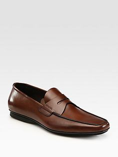 b68e3347552 Prada Leather Penny Loafers Penny Loafers