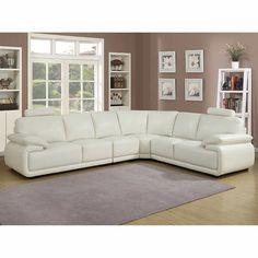 Antibes White 4-pc. Sectional