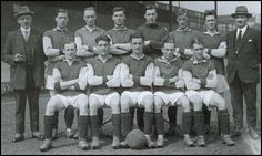 The West Ham team that played in the 1923 FA Cup Final. Back row (left to right):Syd King (manager), Billy Henderson, Sid Bishop, George Kay, Edward Hufton,Jack Young, Jack Tresadern, Charlie Paynter (trainer). Front row: Dick Richards, Billy Brown, Vic Watson, Billy Moore, Jimmy Ruffell.