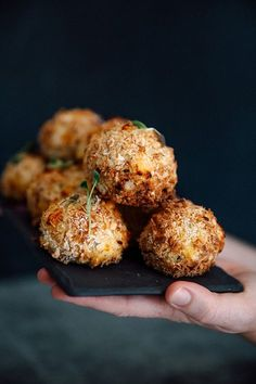 A tasty picnic or starter snack, try these loaded bacon and sweet potato balls with panko crumbs. You may get addicted.