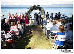 Ehrman Mansion Tahoe Wedding Ceremony l @TheilenPhoto l @takethecakevent