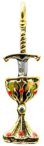Talisman-Knights-Templar-Seal-Holy-Grail-Chalice-Sword-Pewter-Ritual-Jewelry