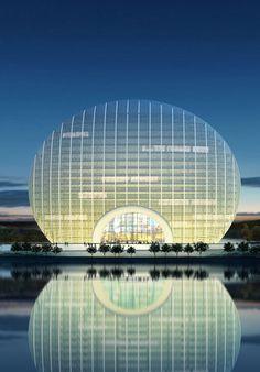 Sunrise Kempinski Hotel Peking. Mehr Bilder: http://www.travelbook.de/welt/Sunrise-Kempinski-Hotel-in-Peking-Die-spektakulaerste-Hoteleroeffnung-des-Jahres-545351.html