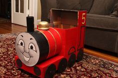 DIY James the Train Halloween Costume... LOTS of attention to detail. Very nicely done (the pics may not load from flickr, but if you click the placeholder, you can see them all).