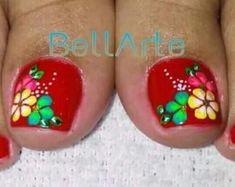 Toe Nail Art, Toe Nails, Toe Nail Designs, Pretty Nails, Pedicure, Fingers, Feet Nails, Nail Bling, Designed Nails