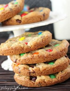 XXL M&M Chocolate Chip Cookies, make the perfect giant cookies!  So fun for giving as gifts to family and friends.