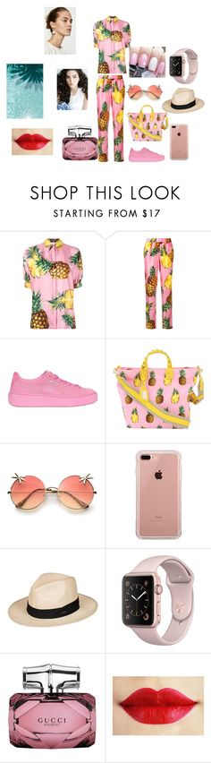 """Pineapple"" by arina-omelchenko ❤ liked on Polyvore featuring Dolce&Gabbana, Puma, Belkin, Roxy and Gucci"