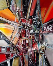 Galería los Caracoles Yanny Ippoliti Título: Serie estructuras Tamaño: 80 x 140 cm Técnica: Acrílico sobre tela Año: 2015