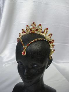 Red and gold headpiece