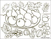Free Coloring Pages: Autumn fruits * Coloring page * Desene de colorat cu toamna Fruit Coloring Pages, Pattern Coloring Pages, Coloring Sheets, Coloring Books, Free Coloring, Adult Coloring, Fall Arts And Crafts, Fruits Drawing, Fall Fruits