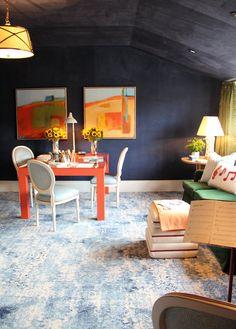 San Francisco Decorator Showcase 2015 // Play Room // Allison Caccoma #playroom Nest Design, House Design, Childrens Twin Beds, Room Ideas, Decor Ideas, Bright Homes, Billiard Room, Kids Corner, High Contrast