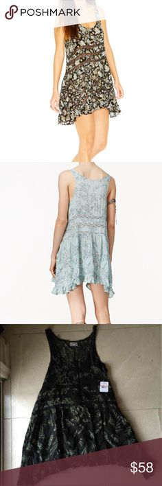 Free People Trapeze dress, XS 🌺🌸❤️😍💋💕 So girly!!! So pretty!!! 🌺🌸😍💋  Floral-Print Trapeze Dress, XS, retail $88 🌺🌸💕🌺🌸💕 Florals, lace and just enough ruffling: this sleeveless Free People trapeze dress has all the chic boho magic you could wish for. Scoop neckline Pullover Sleeveless Allover floral print; lace insets A-line silhouette; loose fit Unlined Hits above knee 100% Rayon Hand wash Imported Free People Dresses Midi