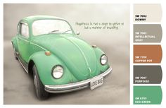 Paint colors from Chip It! by via @Sherwin Huang-Williams ||Slug Bug Green (;