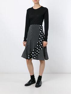 Junya Watanabe Comme Des Garçons Vintage юбка с узором в горох