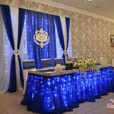 (14) Одноклассники Masquerade Party Decorations, Blue Wedding Decorations, Quince Decorations, Backdrop Decorations, Wedding Stage Backdrop, Wedding Reception Tables, Blue Silver Weddings, Blue Table Settings, Quinceanera Decorations