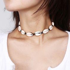 Choker Halskette mit Kauri Muscheln Halsband Maritime Boho Sommer  | eBay