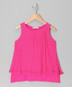 Take a look at this Pink Lace Tank - Girls by Pinc Premium on #zulily today!