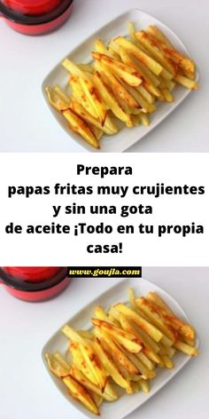 Gota, Cold, Healthy French Fries, Easy Food Recipes, Food Items, Oil