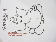 Scribble Drawing For Kids : Youtube how to draw simple easy cute lord ganesha ganpati drawing