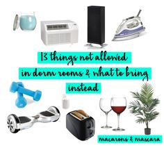 13 Things Not Allowed In College Dorm Rooms & What To Bring Instead