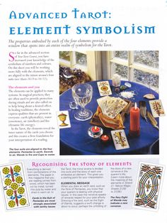 Advanced Tarot Element symbolism