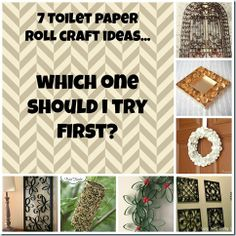 7 Toilet paper roll craft ideas!