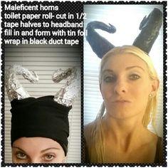 Maleficent horns, easy homemade Halloween costume ideas