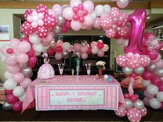 First birthday arch and column by Build a Birthday