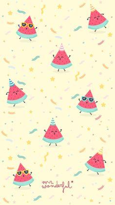 (notitle) iPhone X Wallpaper 297096906664162835 Cute Wallpaper Backgrounds, Screen Wallpaper, Cool Wallpaper, Mobile Wallpaper, Pattern Wallpaper, Cute Wallpapers, Mr Wonderful, Watermelon Background, Watermelon Wallpaper