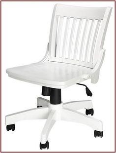 White Wooden Desk Chair