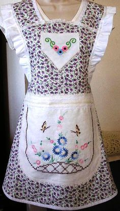.the embroidery on here looks like a dresser cover that my my grandmother made!