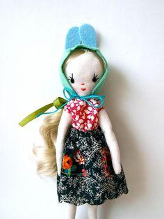 cloth art doll   Small cloth art doll Little Min doll, Holly