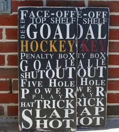 Ice Hockey Typography Word Art in Black by barnowlprimitives