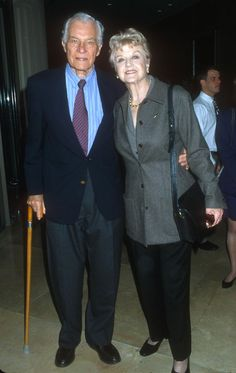 2000 Lansbury with her husband attending the 37th Annual Publicists Guild Awards.