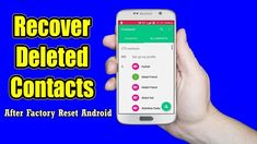 Worried of lost contacts after factory reset Android phone? Learn easy ways to retrieve lost contacts from Android after factory reset