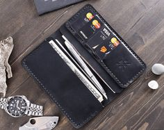 Custom Leather Wallet Men's Leather Wallet  Mens Wallet