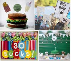 Turning 30 can be tough, but these ideas for birthday stuff if you're throwing a party are a great help. Complete with birthday cake recipes and more, this is one pin you don't want to miss.