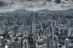 The hills of Hong Kong. The view from currently the tallest building in Shenzhen. Shenzhen, Wonderful Places, Hong Kong, New York Skyline, Cities, China, Birthday, Pictures, Travel