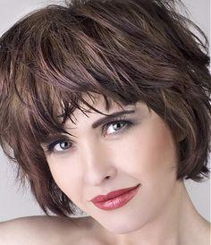 medium brown straight coloured multi-tonal choppy messy hairstyles for women