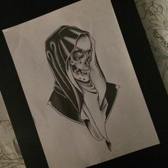 neo traditional reaper tattoo - Google Search