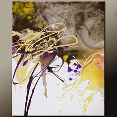 Abstract Art Canvas Painting 18x24 Contemporary Art by wostudios, $75.00