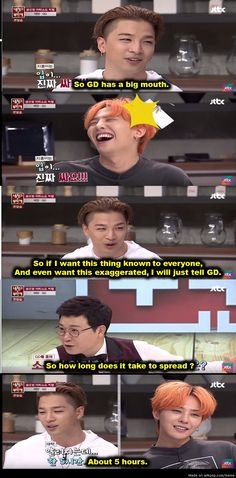 GD and his big mouth. And I half thought it would have been Seungri X) #BigBang   allkpop Meme Center