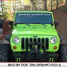 ROLL ME OVER IF YOU CAN READ THIS 4X4 STICKER OFF ROAD JEEP ROCK VINYL DECAL