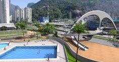 A passarela para pedestres na favela da Rocinha, no Rio de Janeiro (RJ), foi inaugurada em 2010. A obra possui 60 metros de extensão e liga a favela ao bairro de São Conrado