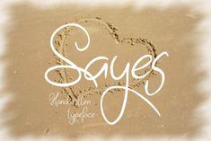 Sayes (Font) by Eva Barabasne Olasz · Creative Fabrica