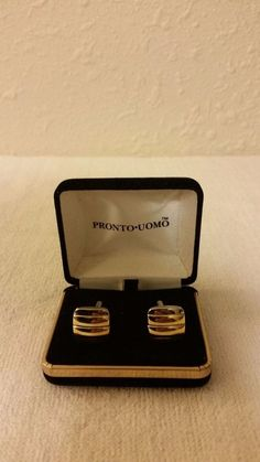 a8d7e7033ddf Pronto Uomo Cufflinks Silver and Gold in color square shaped very nice!