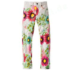 Cakewalk Hose Day Pants Jeans Flower weiß