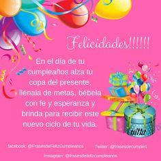 #FelizCumpleaños #Frasesparafelicitar #frases #frasesbonitas #alegria #frasesdefelizcumpleanos #frasesparafelicitar #mensajedefelizcumpleanos #natalicio #mensajedecumpleanos #cumple #felicitaciones #celebracion #diaespecial #lindosmensajes #bendiciones #mensajeespecial #mensajehermoso #mensaje #dedicatoria #deseos Happy Birthday Posters, Happy 2nd Birthday, Happy Birthday Messages, Birthday Greetings, Ideas Para Fiestas, Happy B Day, Religious Quotes, Birthday Party Decorations, Birthdays