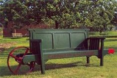 The perfect bench for the yard. Love the wheel so one person can move it to mow.